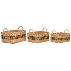 Palash | Set of 3 | Handmade Seagrass Baskets | Fab Habitat