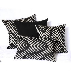 Palm Cove Black | Sunbrella Fade and Water Resistant Outdoor Cushion