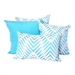 Palm Cove Turquoise | Sunbrella Fade and Water Resistant Outdoor Cushion
