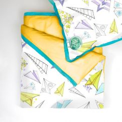 Paper Plane Dreams Quilt Cover Set