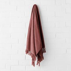 Paros Bath Towel | Mahogany by Aura Home