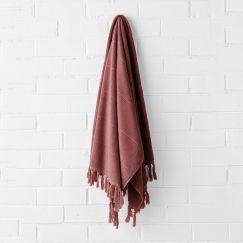 Paros Bath Towel | Mahogany by Aura Home