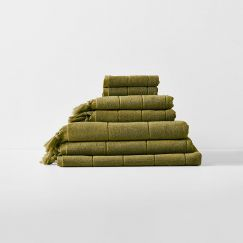 Paros Bath Towel Set | Olive by Aura Home