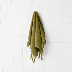 Paros Hand Towel | Olive by Aura Home