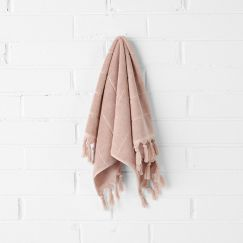 Paros Hand Towel | Pink Clay by Aura Home