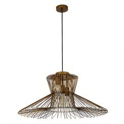 Pheonix 3 Light Large Flair Pendant in Antique Bronze | By Beacon Lighting