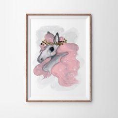 Pink Brumby Art Print   Various Sizes