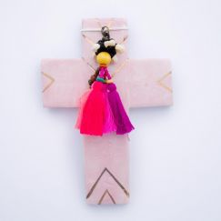 Pink Love | Ceramic Cross | by Carla Dinnage
