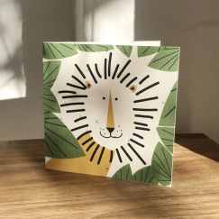 Plantable Cards on Handmade Recycled Paper l Leo Lion