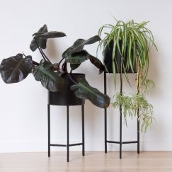 Planter Metallic Black Square | Low by SATARA