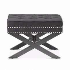 **PRE-SALE** Brooke Ottoman Foot Stool | Black | by Black Mango