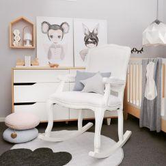 Preston Rocking Chair   White   By Rocking Baby