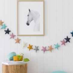 Puffy Star Chimes Garland