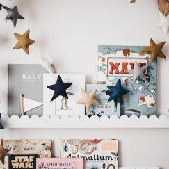 Puffy Star Chimes Garland | Sky