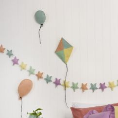 Puffy Star Chimes Garland Unicorn