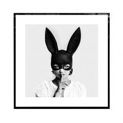 Quiet Bunny   Framed Art Print