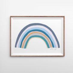 Rainbow Blessings   Marine   Art Print   by Violet Eyes