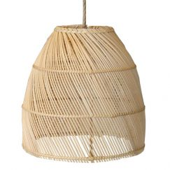 Rattan Dome Pendant II  by Raw Decor