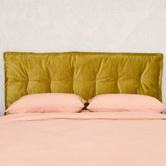 Relaxed Cushion Style Upholstered Bedhead   All Sizes   Other Colours Available   Custom Made by Mar