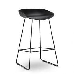 Replica Hay Sled Barstool | All Black | Set of 2