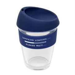 Reusable Glass Coffee Cup | Caffeine Loading....