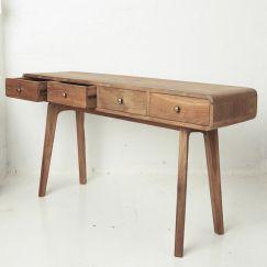 Riia Four Drawer Desk | Custom Made