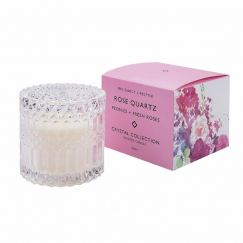 Rose Quartz Candle by Mrs Darcy | Peonies and Fresh Roses