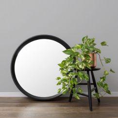 Round 90cm Mirror   Black