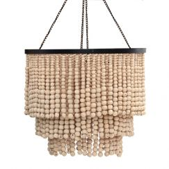 Round Beaded Chandelier | by Raw Decor