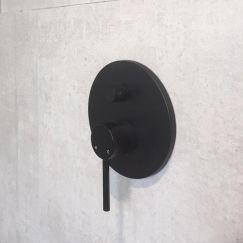 Round Matte Black Diverter Mixer Tap