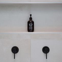 Round Matte Black Wall Mixer Tap