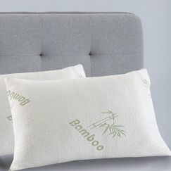 Royal Comfort Bamboo-Covered Memory Foam Pillows – Twin Pack
