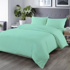 Royal Comfort Blended Bamboo Quilt Cover Set | Green Mist