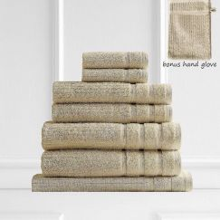 Royal Comfort Eden 600GSM 100% Egyptian Cotton 8 Piece Towel Pack | Beige