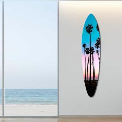 Santa Barbara Palms   Acrylic Board By United Interiors