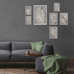 Shadowplay Gallery Wall | Set of 7 Art prints | Unframed
