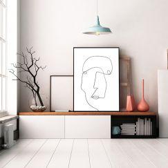 Signature Face   One Line Art Print   Jess Marney Design