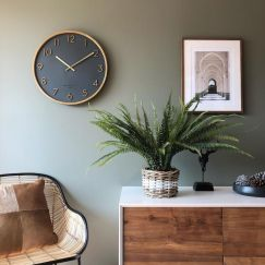Silent Wall Clock | Scarlett | Charcoal Grey | Various Sizes | by One Six Eight London