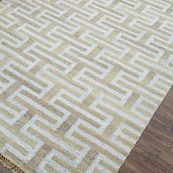 Silver Grey   Natural Handmade Flat Weave Rug