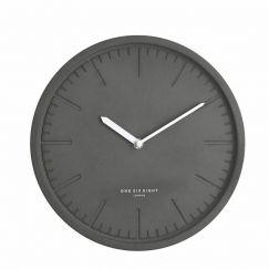 Simone Silent Wall Clock   30cm   Dark Concrete