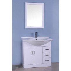 Single White Bathroom Vanity   Modern Furniture