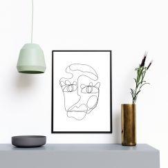 SJ   One Line Art Print   Jess Marney Design