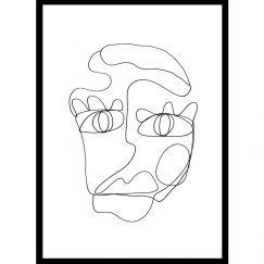 SJ | One Line Art Print | Jess Marney Design