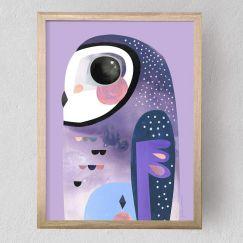 Sooty Owl | Fine Art Print | Unframed