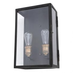 Southampton 2 Light Large Wall Sconce in Antique Black | By Beacon Lighting