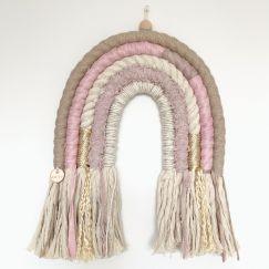 Sparkly Pink Lemonade | Handmade Rope Rainbow Wallhanging