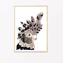 Spirit Bird | Art Print by Grotti Lotti