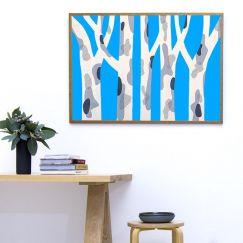 'Spotted Gum Blue Pop' Limited Edition 3 Silkscreen Print | Unframed