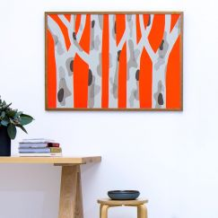 'Spotted Gum Orange Pop' Limited Edition 1 Silkscreen Print | Unframed