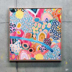 Spring Sun | 1.03m x 1.03m | Framed Canvas Print